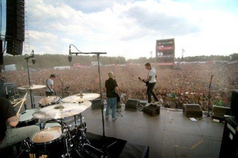 Festivalspelning på Hurricane i Tyskland