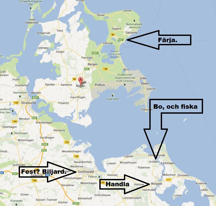 rugen karta Rügen. (Fisket som gud glömde). :) 7 13/6 13 | rugen karta