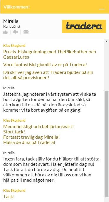 Tradera bjuder på provisionen för auktionen2